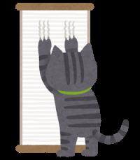猫爪とぎ跡補修工事