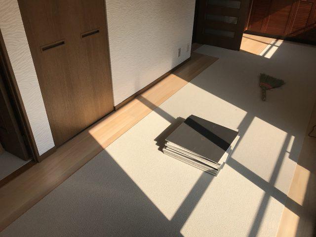 賃貸マンション床貼り 福岡