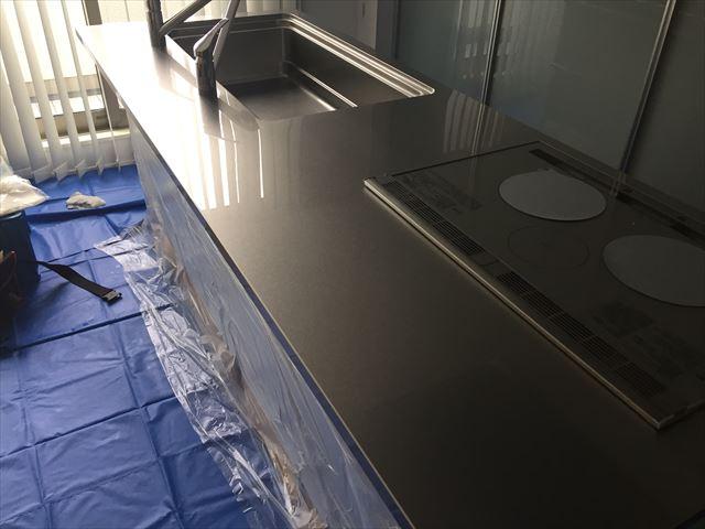 キッチン天板 施工後