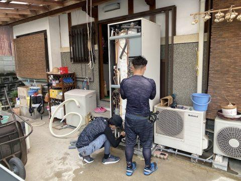 戸建て住宅エコキュート工事