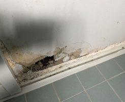 お風呂の壁に穴
